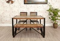 Baumhaus Urban Chic Small Dining Bench IRF03A With Free Delivery | Urban Chic Furniture Range